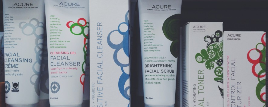 Acure organic skin care products