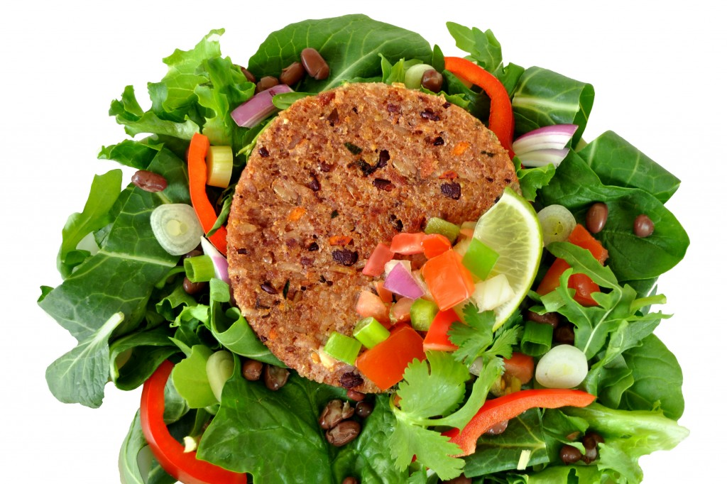 BlackRiceBurger-Salad