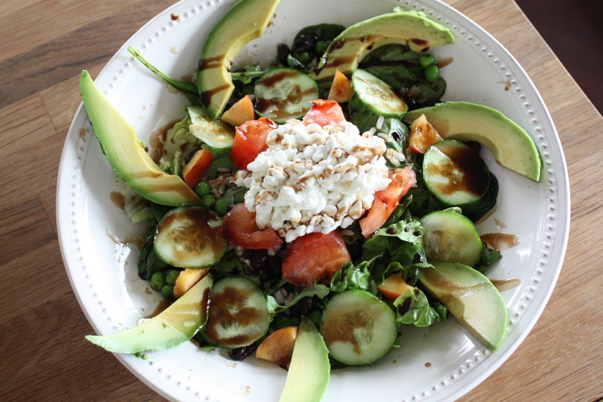 salad with cottage cheese and veggies