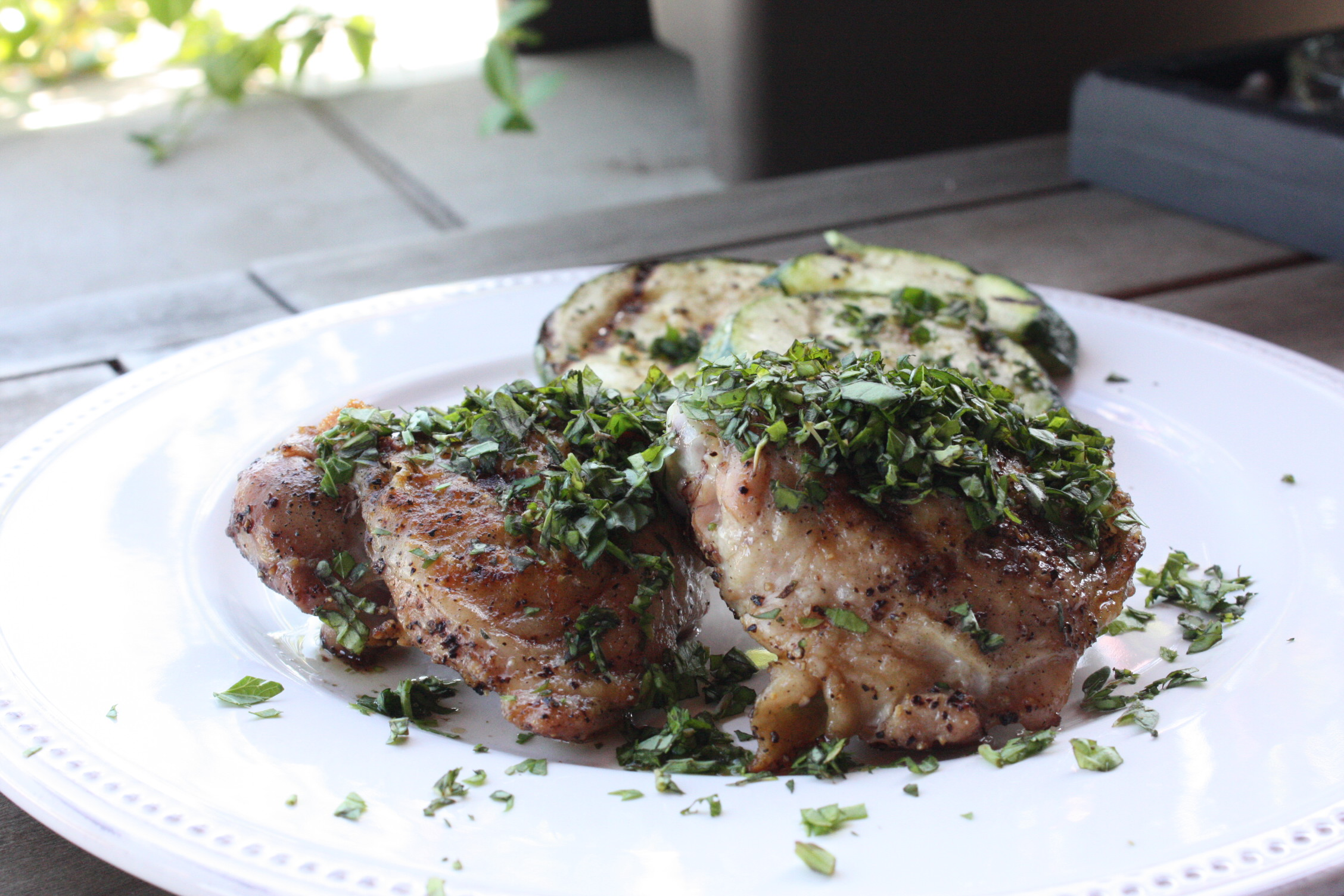 chicken thighs with herbs